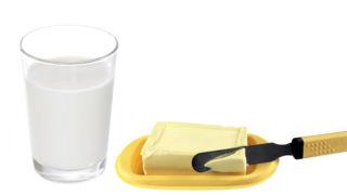 Молоко с маслом